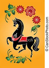 gorodets horse