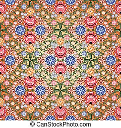 Gorodets painting background seamless pattern