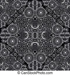 Gorodets seamless floral patterns