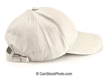 gorra, beisball, aislado