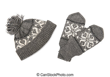 gorra, guantes