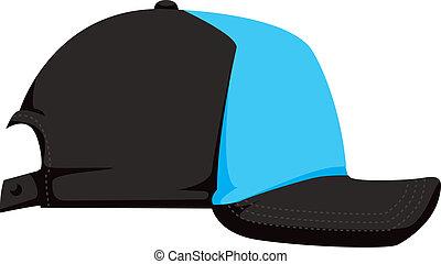 gorra, vector, beisball, ilustración