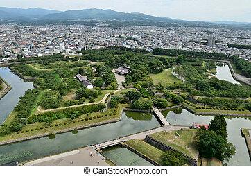 goryokaku., 目に見える, タワー, 風景