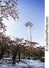 Goryokaku tower Hakodate. Hokkaido. Japan