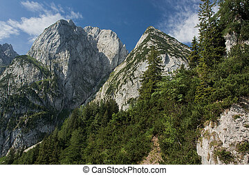 gosaukamm, montañas, austria, donnerkogel
