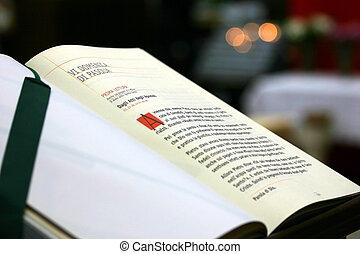 Gospel - a page of the Christian gospel