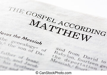 Gospel of Mathew - The Gospel According to Mathew, macro...