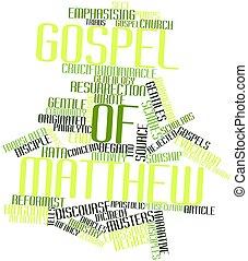Gospel of Matthew - Abstract word cloud for Gospel of...