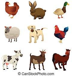gospodarcze zwierzę, ikony