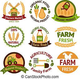 gospodarka, rolnictwo, symbole, żęcie