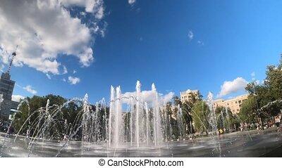 gosprom, fontaine, ukraine, kharkiv