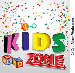 gosses, baner, enfants, zone, jouets