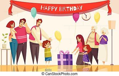 gosses, composition, anniversaire, heureux