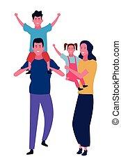 gosses, dessins animés, famille