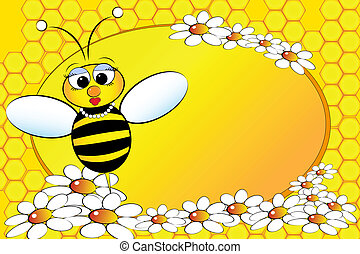 gosses, -, illustration, abeilles, maman, family: