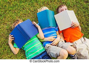 gosses, livres, lecture
