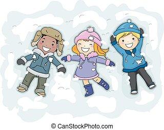 gosses, neige