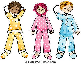 gosses, pyjama