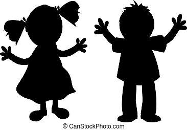 gosses, silhouette