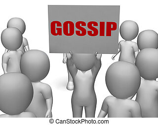 Gossip Board Character Means Secret Whispering And Rumouring...