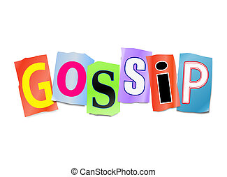 Gossip concept. - Illustration depicting a set of cut out...