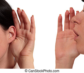 gossip girl - girl whispering in his ear the other girl