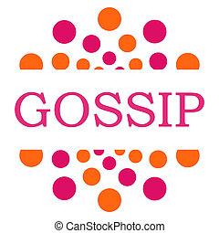Gossip Pink Orange Dots Circle Square