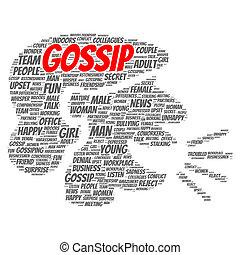 Gossip word cloud concept
