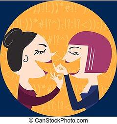 gossiping, 女性