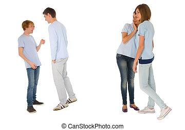 gossiping, adolescenti