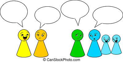 gossiping, persone