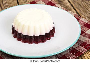 gostosa, low-calorie, geléia, dessert-cherry, leite