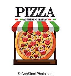 gostosa, pizza