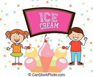gostosa, sorvete