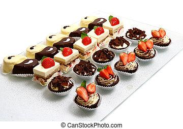 gostoso, e, doce, sobremesa, bolo