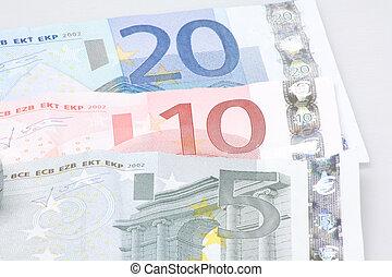 gotówka, euros