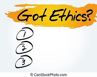 Got Ethics? blank list