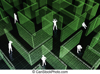 People got stuck in Information Technology Maze.