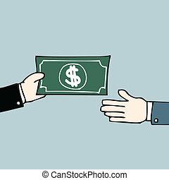 Got success - Illustration of hand drawn businessman give...