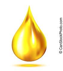 gota, óleo