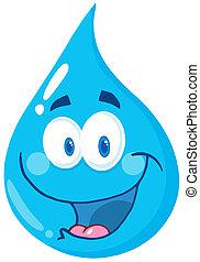 gota agua, caricatura, carácter