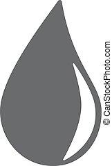 gota agua, icono, eps10