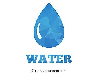 gota agua, plano de fondo
