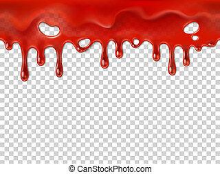 gota, blood., sangramento, ou, realístico, vetorial, ...