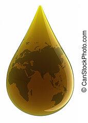 gota, de, óleo