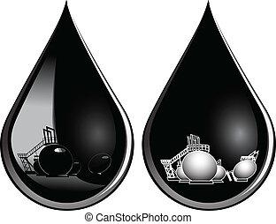 gota, de, aceite