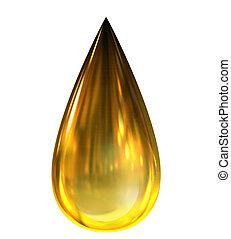 gota del aceite, con, reflexiones