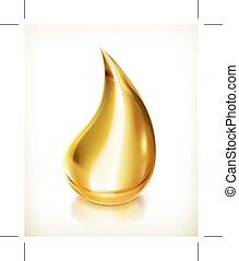 gota del aceite, icono