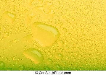 gotas água, amarela