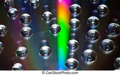 gotas água, cd/dvd, coloridos